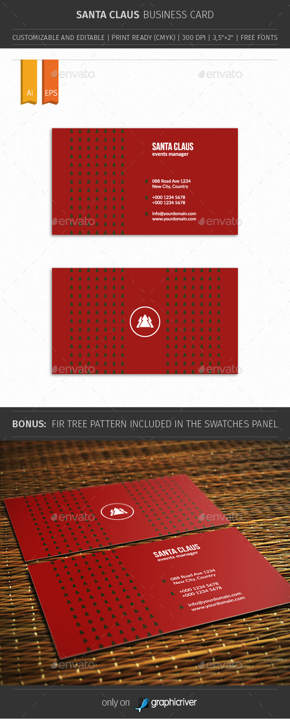 GraphicRiver Santa Claus Business Card 01 9706179