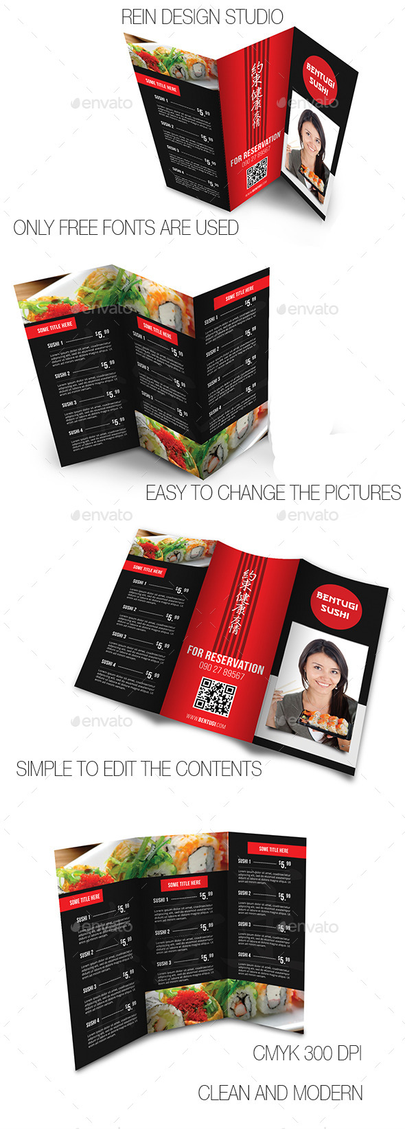 GraphicRiver Japanese Restaurant Menu 9706204