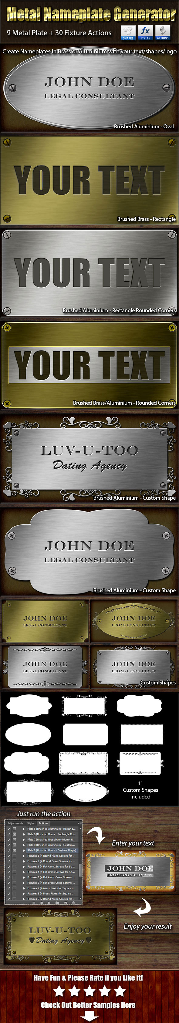 GraphicRiver Metal Nameplate Generator 9706342