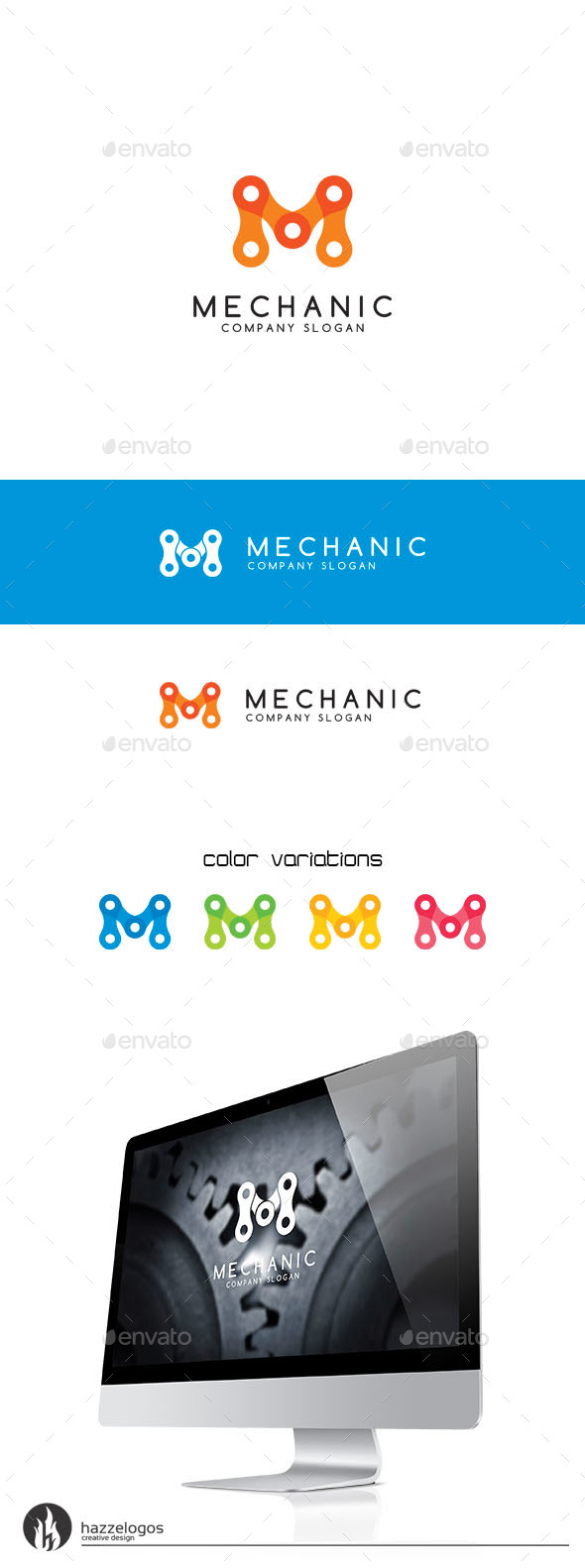 GraphicRiver Mechanic Logo 9706753