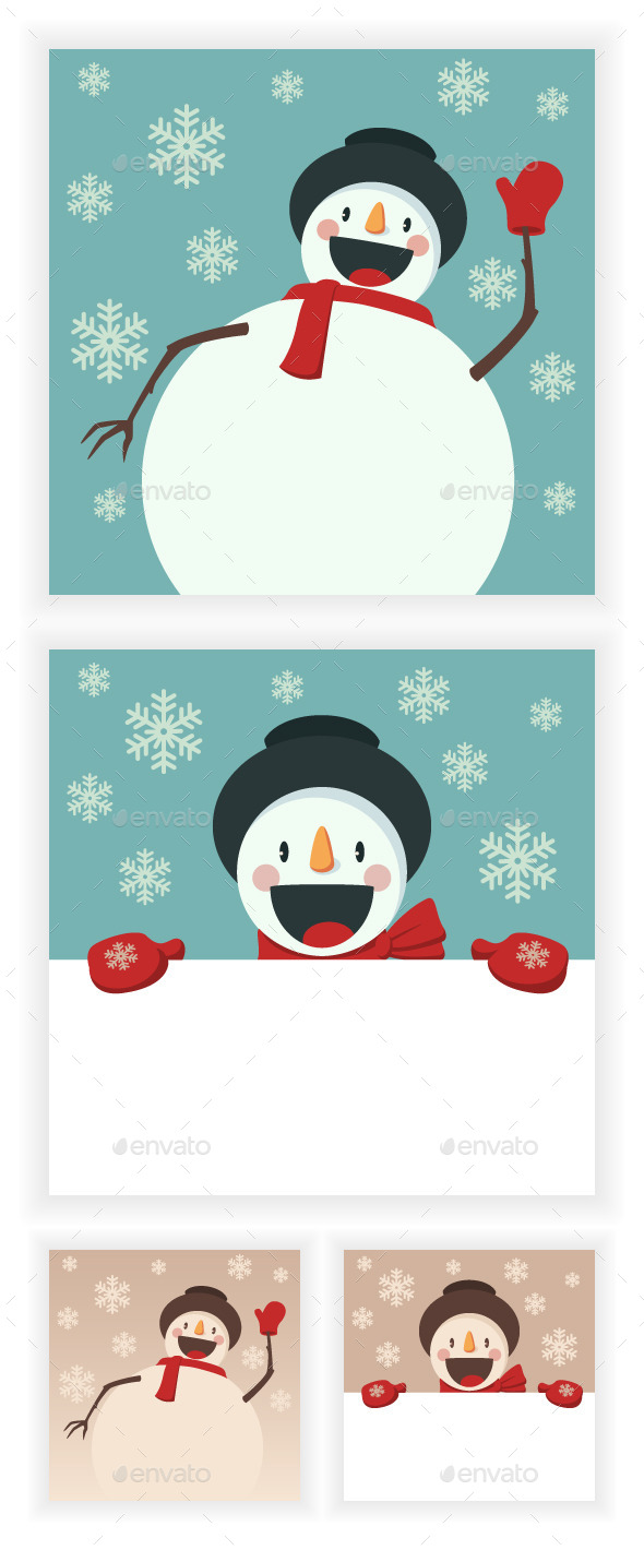 GraphicRiver Happy Snowman 9682721