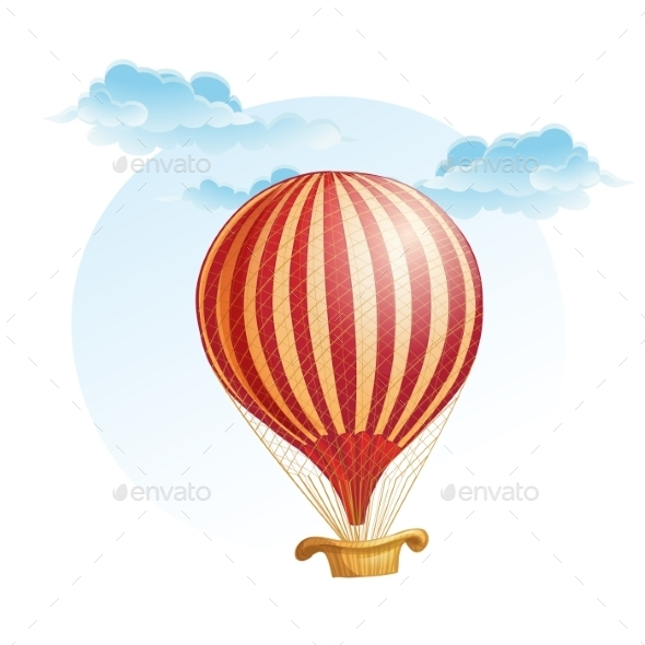 GraphicRiver Image of the Balloon in a Strip in the Clouds 9707017