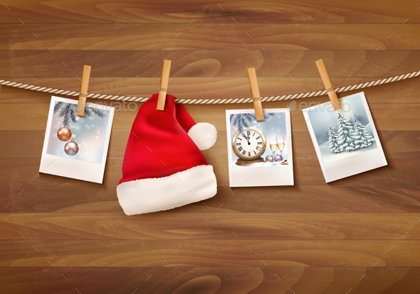 GraphicRiver Holiday Background with Christmas Photos 9707068