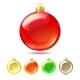Set of Glossy Christmas Balls - GraphicRiver Item for Sale