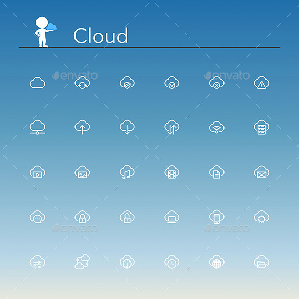 Cloud Line Icons