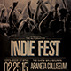 Indie Fest Flyer/Poster - GraphicRiver Item for Sale