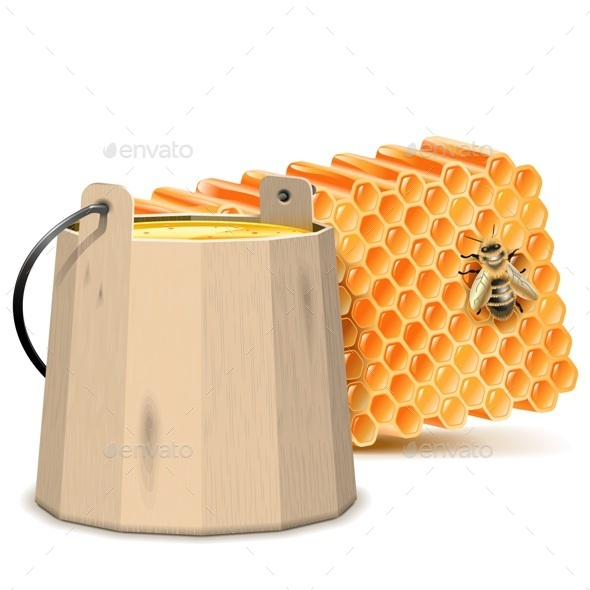 GraphicRiver Barrel with Honeycombs 9707348