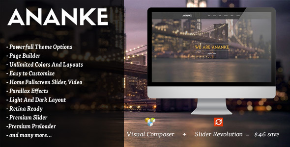 ThemeForest Ananke One Page Parallax WordPress Theme 9631763