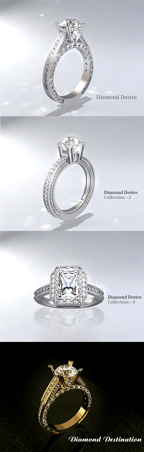 3DOcean Diamond Ring Collection-1 9707423