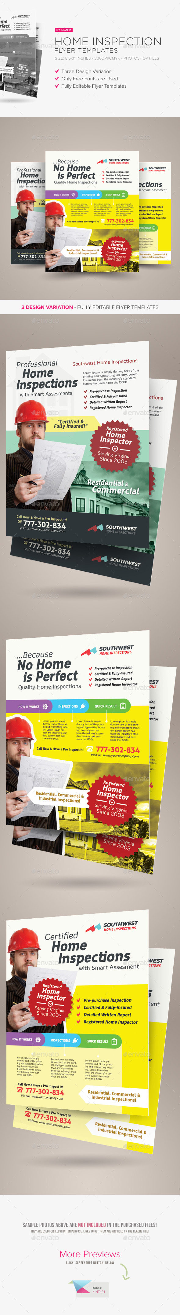 GraphicRiver Home Inspection Flyer Templates 9707437