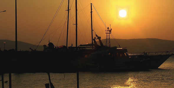 VideoHive Boats in the Sunset 9707459