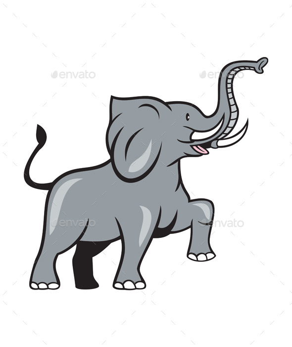 GraphicRiver Elephant Marching Cartoon 9707736