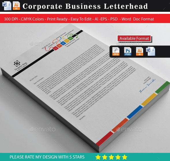 GraphicRiver Corporate Colourful Business Letterhead 2 9708016
