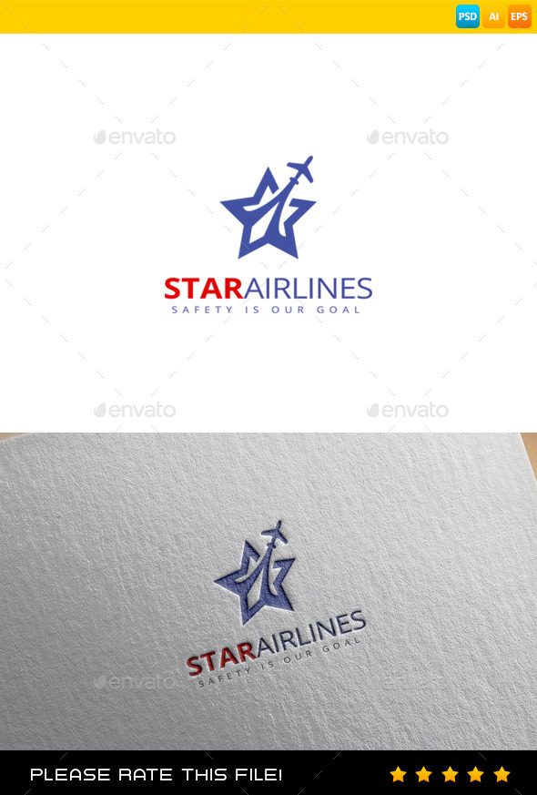 GraphicRiver Airplane Logo 9680772