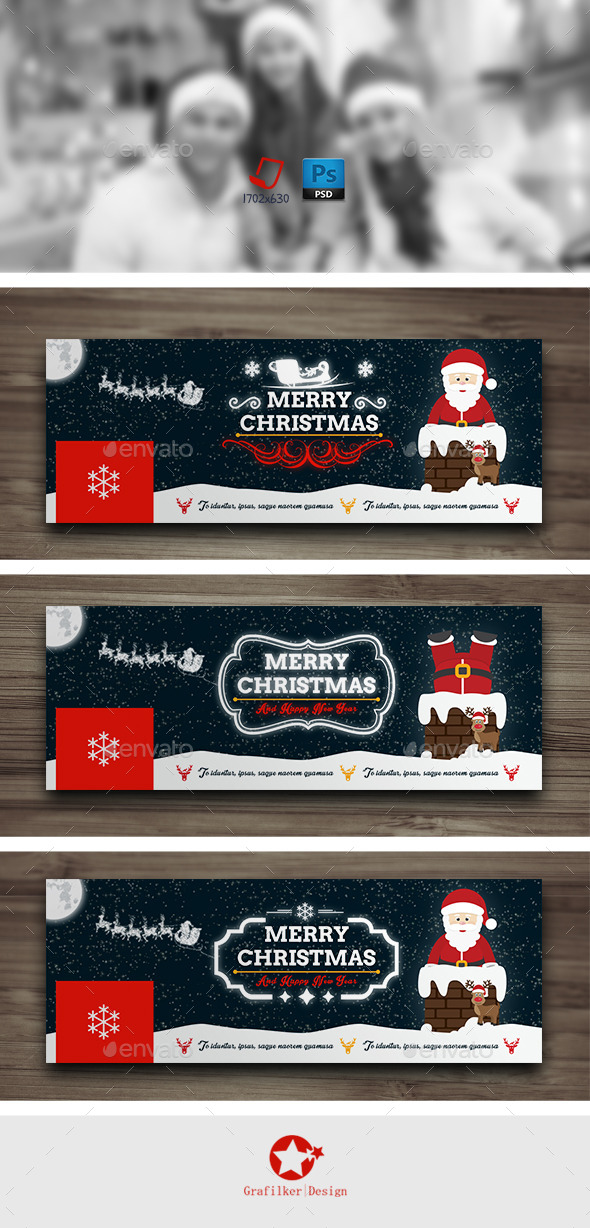 GraphicRiver Christmas Timeline Cover Templates 9709592