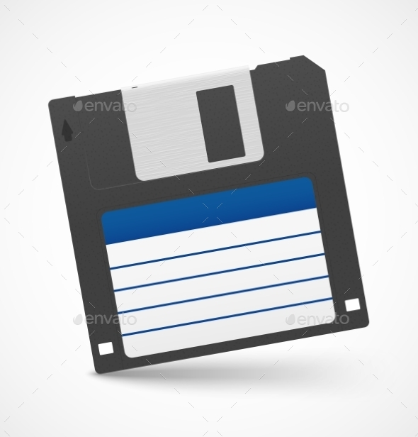 GraphicRiver Black Floppy Diskette 9709677