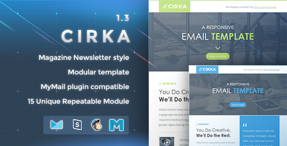 Cirka - Responsive Email Template  - Newsletters Email Templates