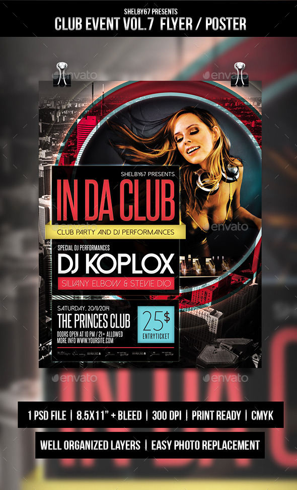 GraphicRiver Club Event Flyer Poster Vol.7 9709749