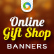 Online Gift Store Banners - GraphicRiver Item for Sale