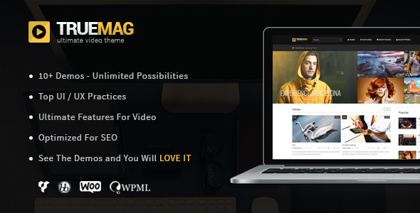 01 theme preview. large preview - True Mag - WordPress Theme for Video and Magazine