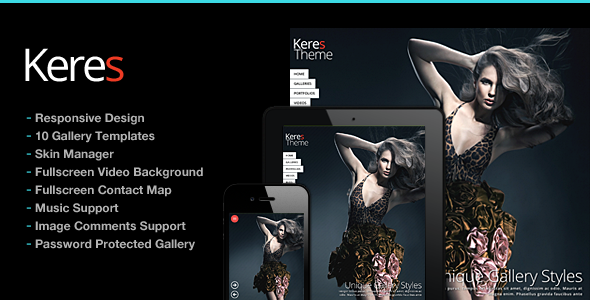 Keres Fullscreen Photography Theme - Photography Creative