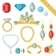 Set of Jewelry and Precious Stones - GraphicRiver Item for Sale