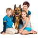 mother with two children and their shepherd - PhotoDune Item for Sale