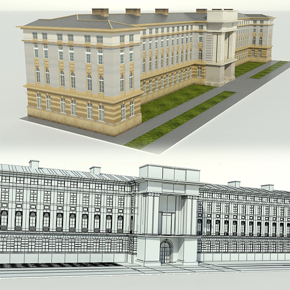 Neoclassical Building - 3DOcean Item for Sale