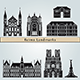 Reims Landmarks and Monuments - GraphicRiver Item for Sale