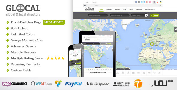 GLOCAL - Directory & Listings Wordpress Theme - Directory & Listings Corporate