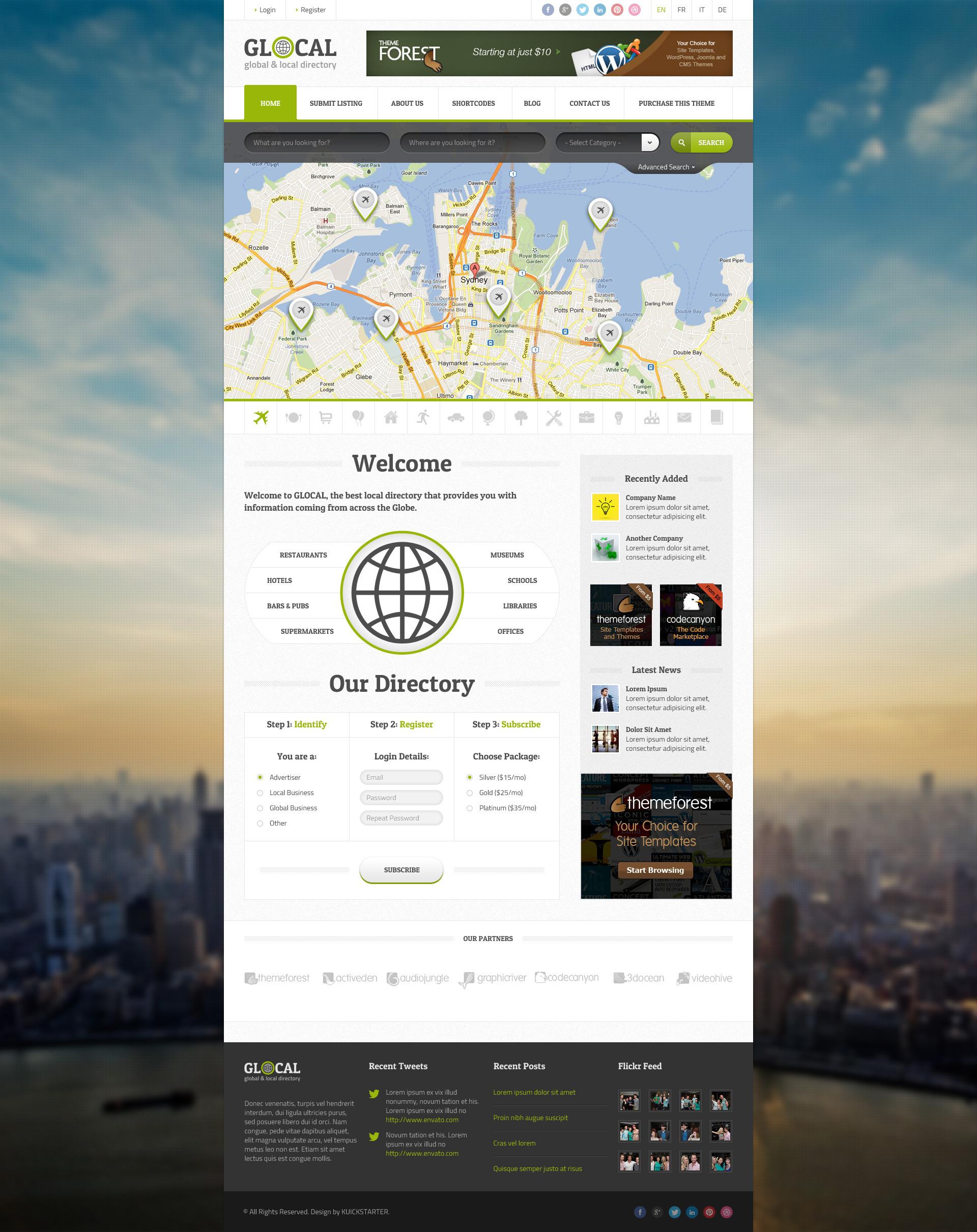GLOCAL - Directory & Listings Wordpress Theme