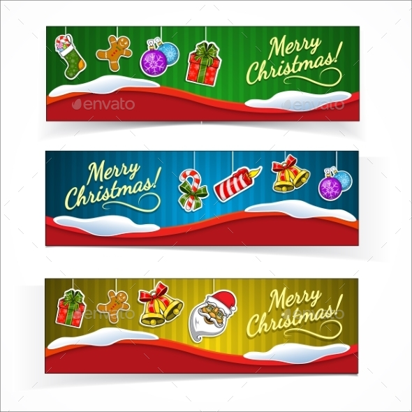 GraphicRiver Christmas banners 9710631