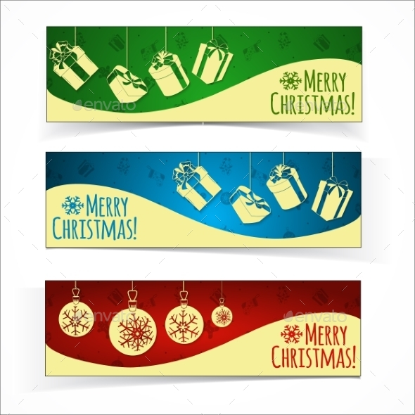 GraphicRiver Christmas Banners 9710633
