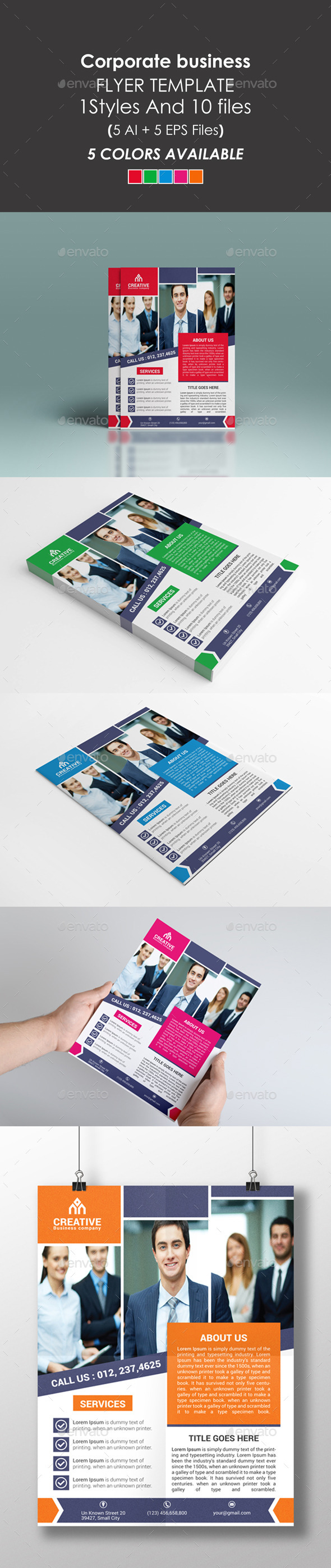 GraphicRiver Clean Corporate Flyer 9710635