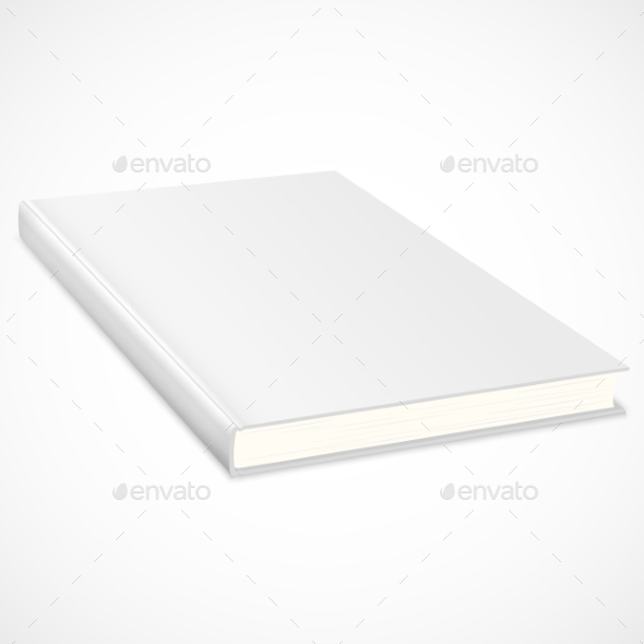 Empty Book with White Cover