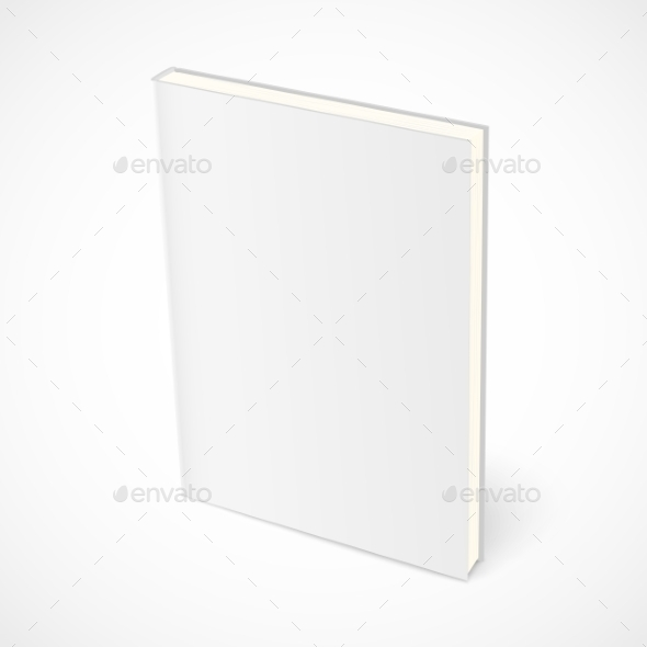 GraphicRiver Empty Standing Book with White Cover 9710778