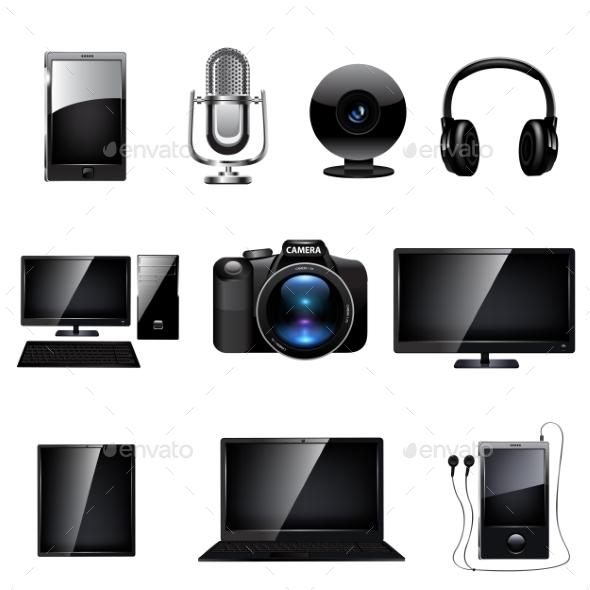 GraphicRiver Media Icon Set 9710849