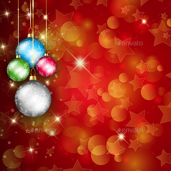 GraphicRiver Christmas Baubles 9710982