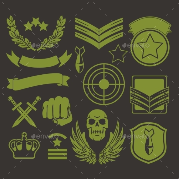 GraphicRiver Special Unit Military Patches 9711062
