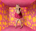 surprised blonde in pink dress - PhotoDune Item for Sale