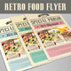 Retro Food Flyer - GraphicRiver Item for Sale