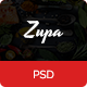 ZupaRestaurant - OnePage - PSD Template - ThemeForest Item for Sale