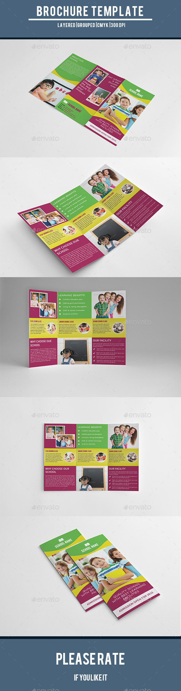 GraphicRiver Kids School Admission Trifold Brochure-V196 9711558