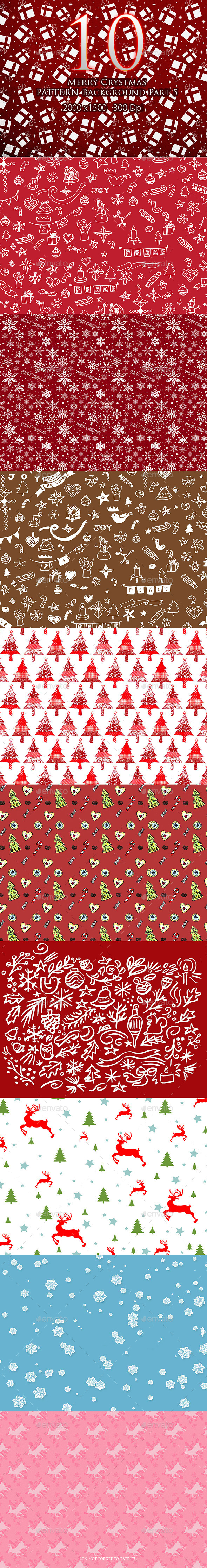 10 Merry Christmas Pattern Background Part 5