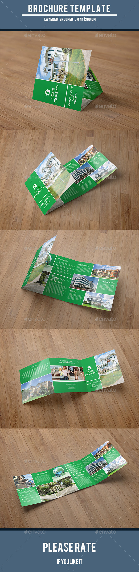 GraphicRiver Square Trifold for Real Estate Company-V52 9711619