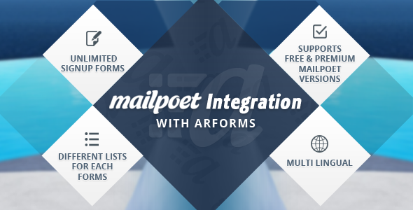 CodeCanyon Mailpoet integration with Arforms 9711847