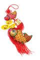 Auspicious Fish and Gold Ingot ornaments - PhotoDune Item for Sale