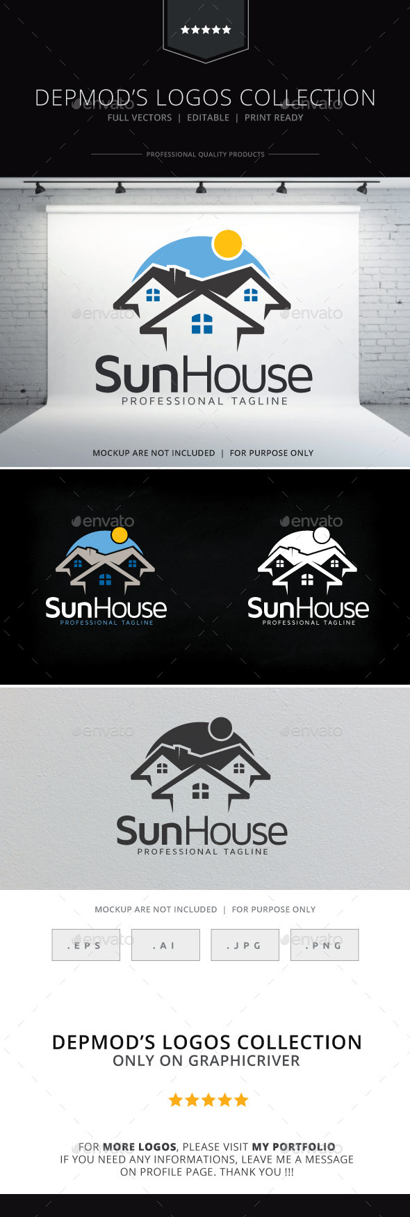GraphicRiver Sun House Logo 9711935