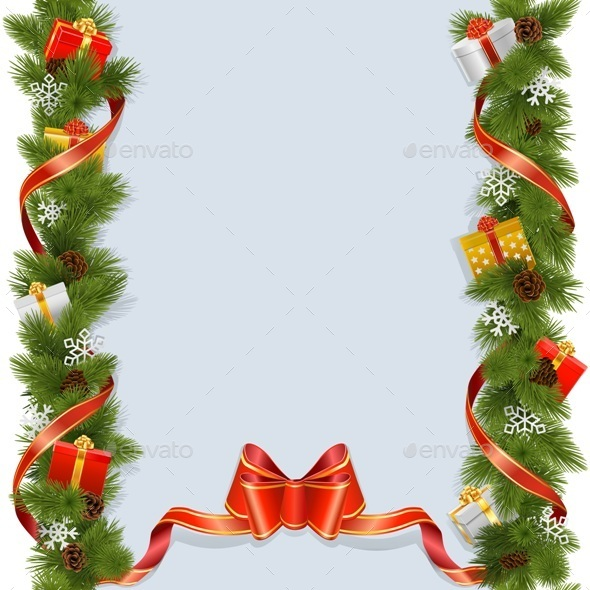 GraphicRiver Christmas Background with Gifts 9711980