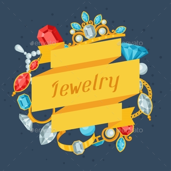 GraphicRiver Set of Jewelry and Precious Stones 9712115